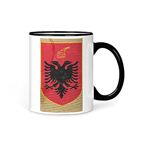 Tasse Kaffeetasse Albanien Fahne 12