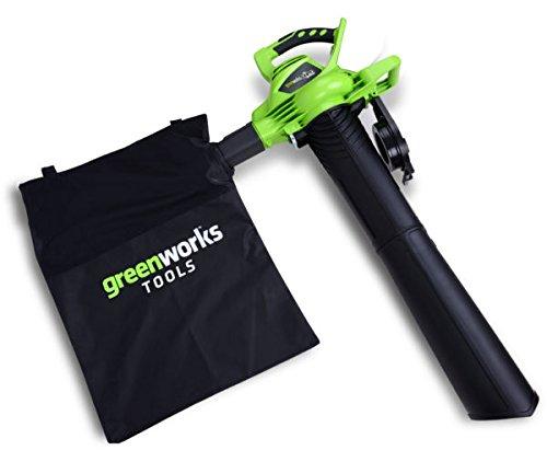 Greenworks 40V Akku-Laubbläser und Sauger inklusive 2 Akkus 2Ah und Ladegerät - 24227UC (Laubbläser Sauger)