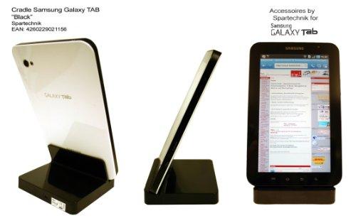 Cradle für Galaxy TAB weiss: USB Dockingstation - Funktionen: USB Laden & Datenaustausch - Tischladestation für Samsung Galaxy Tab Tablet PC P1000 Tab 7.0 Plus plus N 8.9, 10.1. Tab 10.1N Galaxy Note 10.1 GT-P7510 - schwarz