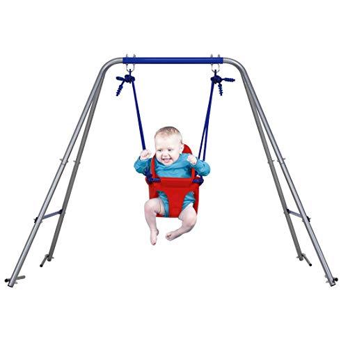 SEESEE.U Baby Swing Folding Kleinkindschaukel Outdoor Indoor Schaukel mit Sicherheit Baby Seat Portable Gartenschaukel