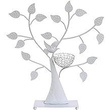 Songmics Expositor de pendientes anillos pulseras Soporte para joyería Diseño de árbol Negro JDS065