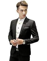 Battercake Corte De Los Hombres del Diseño De La Escala Prom Blazers  Tuxedos Chaqueta Cómodo De La Boda Hombres Casual Chaquetas… a5f0e6023da