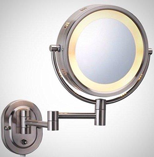 Make-Up-Spiegel, An Der Wand Montierten Robusten 5-Fache Vergrößerung Beleuchtete Elegante Schönheit -
