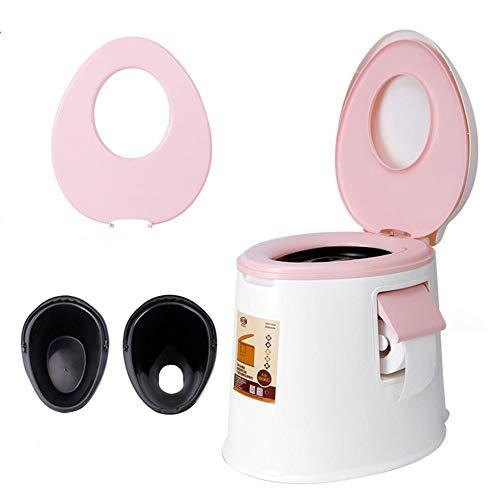 ushalt Erwachsene Kinder zweisitziger Tragbare Toilette, Reisen im Freien Mobile Toilette/Reinigungsmittel ()