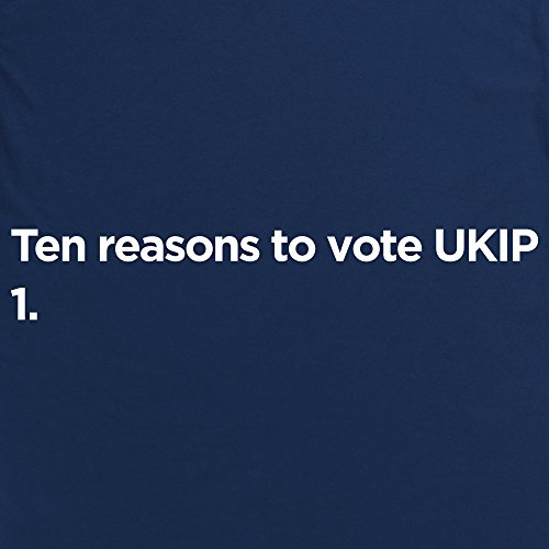 Vote UKIP T-Shirt, Damen Dunkelblau