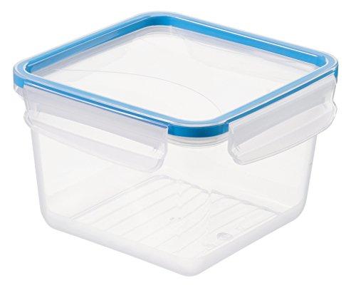 """Rotho Frischhaltedose \""""Clic & Lock\"""", Aromafeste Aufbewahrungsbox mit Deckel, Inhalt 1.4 l, transparente Kunststoffbox (16.1x16.1x10.3 cm) mit Clip-Verschluss, BPA-freie Vorratsdose spülmaschinengeeignet"""