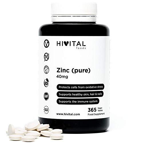 Zinc puro 40 mg procedente de Gluconato de Zinc | 365 comprimid