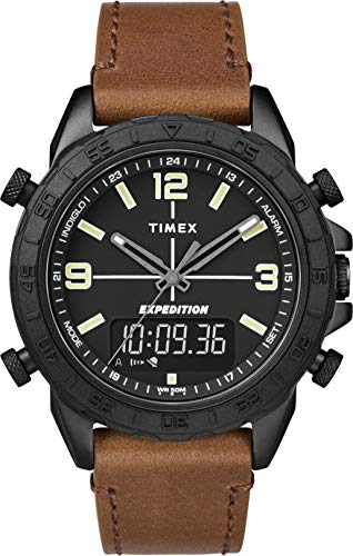 Timex Mens Analogue-Digital Quartz Watch with Leather Strap TW4B17400 Best Price and Cheapest