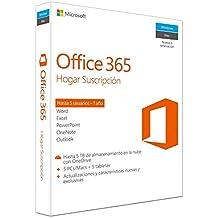 Microsoft Office 365 - Paquete Hogar, Para 5 PCs/Macs + 5 tabletas, 1 año