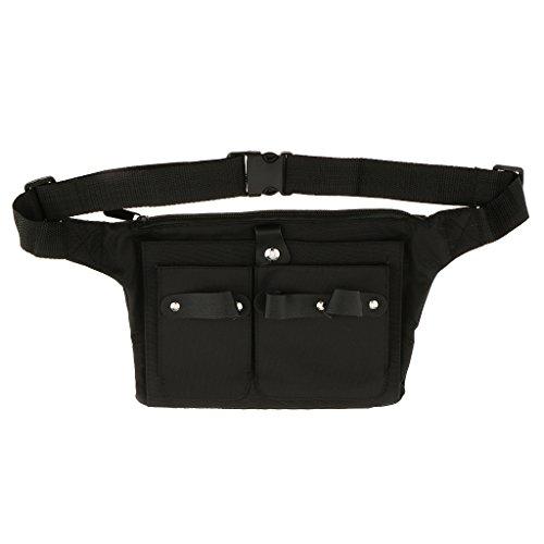 Gazechimp Cinturón Bolsa de Almacenamiento Tenedor de Tijeras Peines Cepillos de Lienzo Herramientas de Salón
