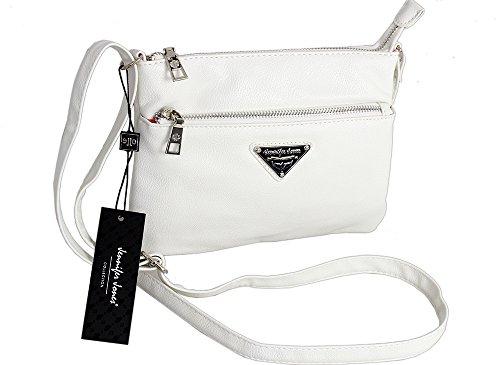 c435a9c345107 Jennifer Jones Taschen Damen Damentasche Handtasche Schultertasche  Umhängetasche Tasche klein Crossbody Bag schwarz (3431)