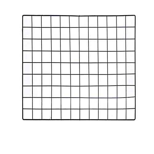 ShouYu DIY Grid Panel Foto Wand,Gitter,ins Mesh Wand,Multifunktion Gitterwand Deko,Memo Brett Organisator Regale (Schwarz,60×60cm) -