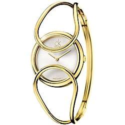 Calvin Klein - Reloj de pulsera mujer, color dorado