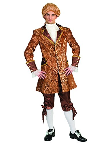 Kostüm Conte Amadeo Herren Barock Rokoko Graf Größe 60/62 Renaissance gold braun Adel Monsieur...