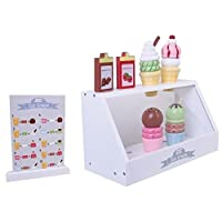 Pretend Play Wooden Ice Cream Shop - Great Wooden Food / Cake Gift for Children
