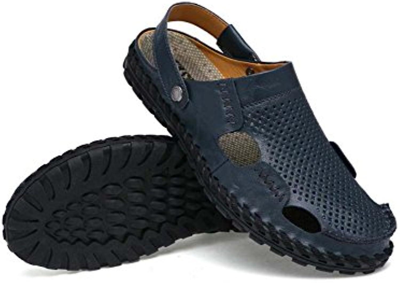 Männer Pumps Leder Closed Toe Slingbacks Sandalen England Stil Solide Weiche Unterseite Coole Hausschuhe Atmungsaktive