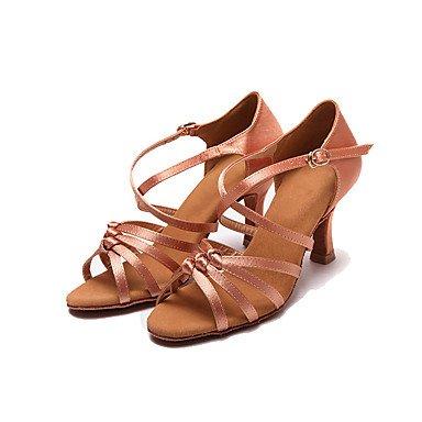 Ruhe @ Damen Dance Schuhe Leder Latin Heels Stiletto Heel Anfänger/Professional schwarz Schwarz