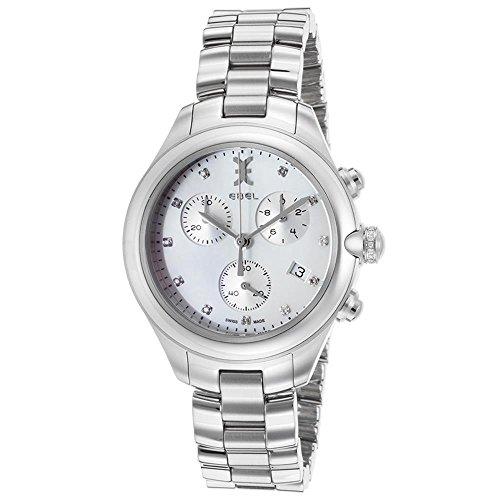 Ebel Onde 36mm Chronograph Stainless Steel Bracelet & Case Quartz White Dial Women's Watch 1216177