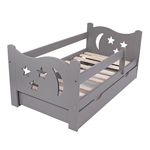 KAGU Chrisi Kinderbett Jugendbett Juniorbett Bett (140x70 cm oder 160x80 cm). Kiefernholz Massivholz inkl. Matratze und Schublade. - 2