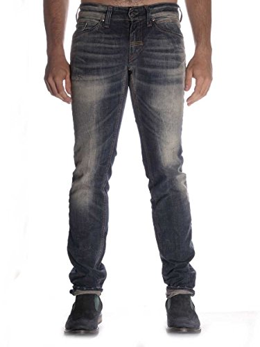 Pantalone Meltin Pot Maner in Jeans Stone Wash Stretch 36, Variante Unica MainApps