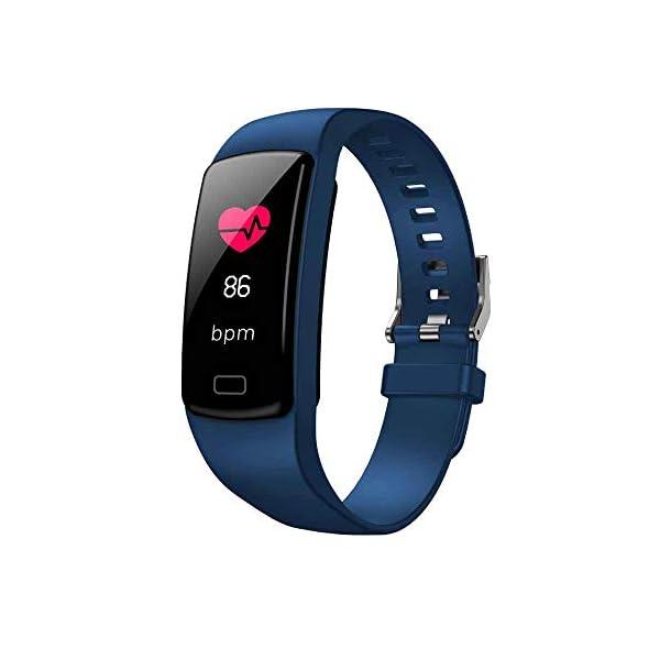 TOOGOO Banda de Rastreador de Actividad Inteligente Y9 Pulsera de Fitness Monitor de Pulso Cardíaco Pulseras de Presión… 1