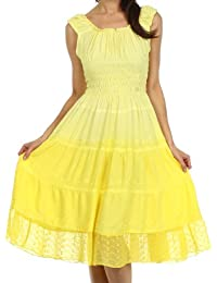 Sakkas Spring Maiden Ombre Peasant Dress