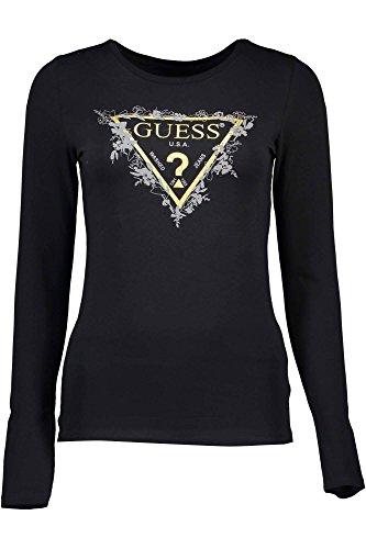 guess-jeans-w72i99-k61h0-t-shirt-maniche-lunghe-donna-nero-m