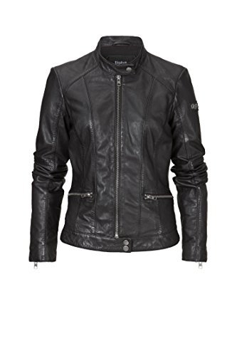 TIGHA Damen Bikerjacke Lederjacke LIONELLA schwarz black