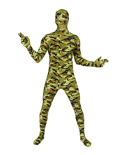 Morphsuit mimetico soldato camouflage
