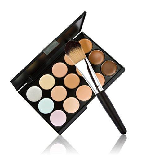 timesong professionnel 15 couleurs Contour crème visage maquillage correcteur Palette + maquillage pinceau poudre