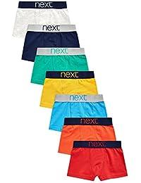 next Niños Pack De Siete Calzoncillos Varios Colores Corte Estándar Ropa Interior