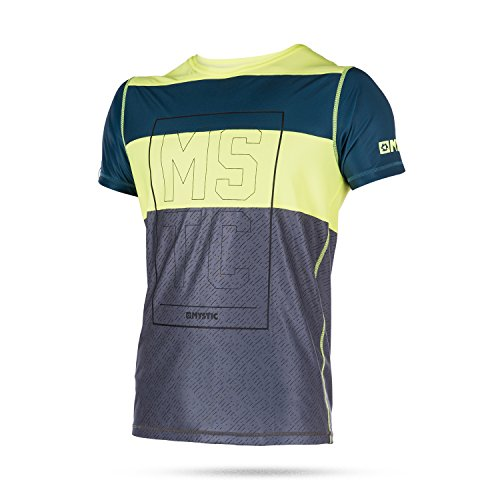Mystic Wassersport - Surf Kitesurf & Windsurfen Drip Loosefit Schnell Dry Short Sleeve Rash Vest Top Lime -