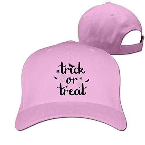 Classic Cotton Hat Adjustable Plain Cap, Trick Treat Plain Baseball Cap Adjustable Size Curved Visor Hat 437