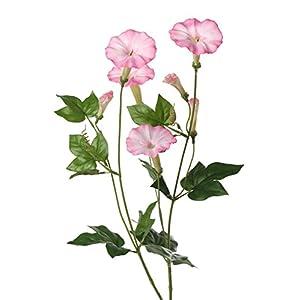 artplants.de Ipomoea Artificial NABILA, 4 Flores, Rosa, 70cm – Campanilla Morada – Gloria de la mañana