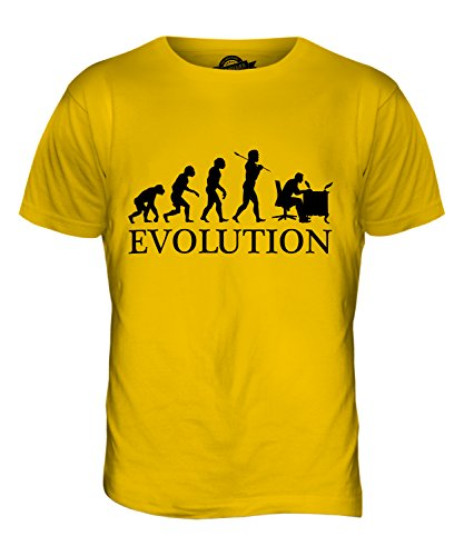 CandyMix Kalligrafie Evolution Des Menschen Herren T Shirt Dunkelgelb