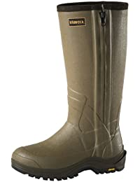 "Harkila Forester Botas Para La Lluvia 'Wellingtons' 17"" Cremallera 5mm Neopreno h-Vent Oliva Oscuro - Verde, 6 UK"
