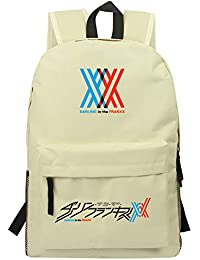 Unisex Darling in The FRANXX Mochila de Lona con Estampado Simple Mochila Informal Mochila Ligera Bolsa