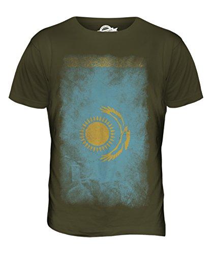 CandyMix Kasachstan Verblichen Flagge Herren T Shirt Khaki Grün