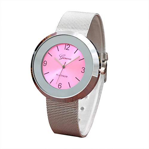 Uhren Damen Schöne Mode Armbanduhr Damenuhr Runde Armbanduhr Schüler stilvolle Edelstahl Uhren Spire Glasgürtel Quarzuhr für Paar ABsoar (Nixon-skelett-uhr)