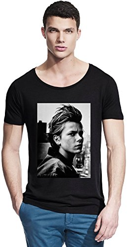 River Phoenix 'Ciggy- Stand by Me Rock Bamboo Wide Neck T-Shirt X-Large -