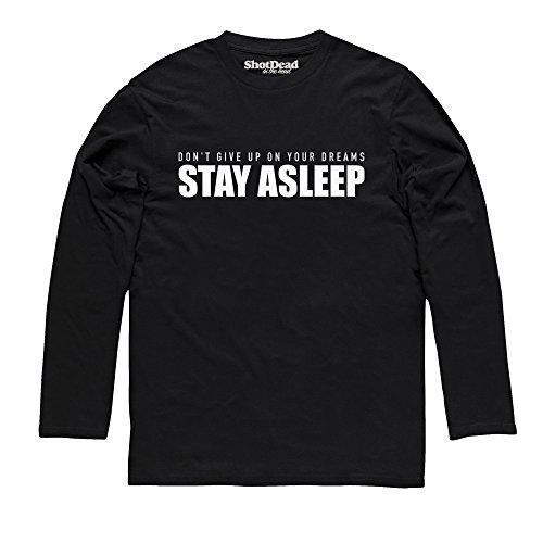 Stay Asleep Langarmshirt, Herren Schwarz