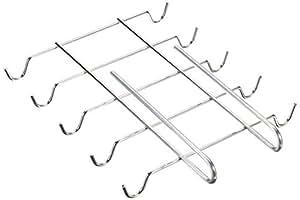 Wenko 2748130100 Schrankeinsatz Tassenhalter - für 10 Tassen, Chrom, 28 x 5 x 22 cm