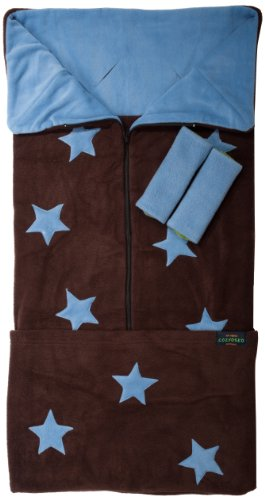 cozyosko-saco-de-abrigo-multifuncion-diseno-con-estrellas-azules-sobe-fondo-marron
