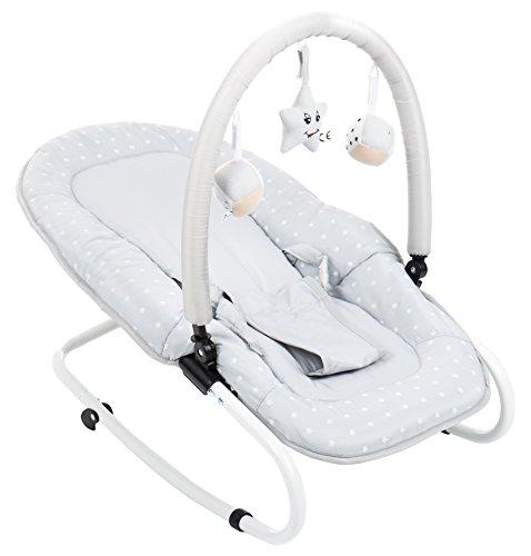 Fillikid 7008-41 Babywippe Relax Sterne, grau