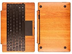 Skinomi Techskin - Light Wood Film Shield For Asus Eee Transformer Tf101 Keyboard Docking Station + Lifetime Warranty