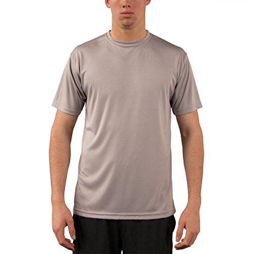 Vapor Apparel Herren UPF 50+ UV Sonnenschutz Kurzarm Performance T-Shirt XXX-L Athletic Grau -