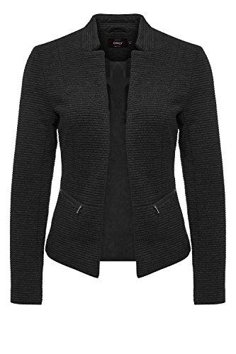 ONLY Damen Blazer Anzugjacke Businessjacke Anzug Kostüm Sakko Jackett (M, Black/Solid)
