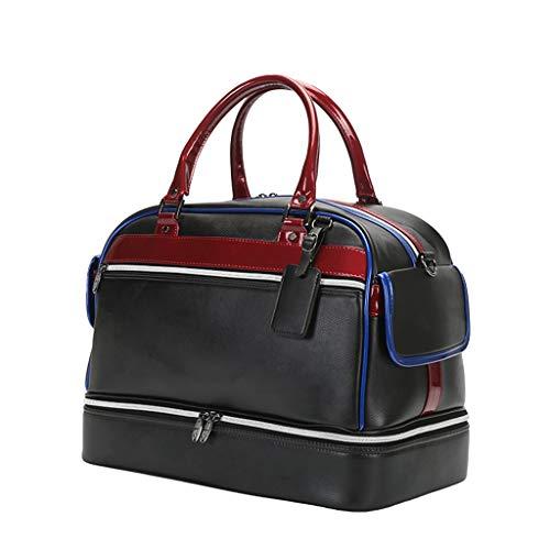 DYHOZZ Borsa da Golf, Doppio Paio di Scarpe Bianche E Nere, Materiale Impermeabile, 44 × 26 × 35 Cm (Color : Black)