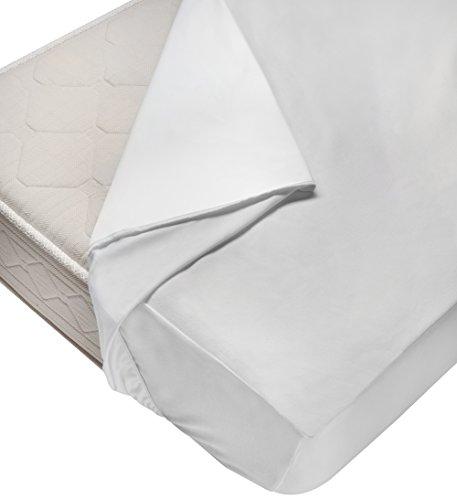 Ipersan Plus Coprimaterasso Impermeabile, Cotone/Poliuretano, Bianco, a Una Piazza