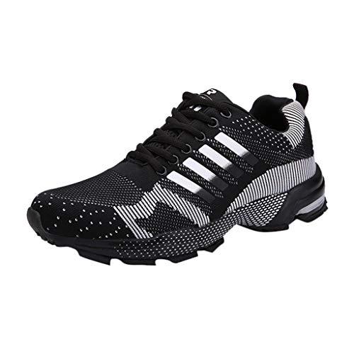 HCFKJ Scarpe Sportive Sneaker Scarpe da Corsa Unisex Adulto Scarpe Casual da Uomo in Maglia Intrecciata Scarpe da Ginnastica Unisex Adulto Grandi